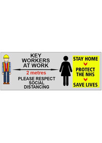Key Workers Social distancing sign