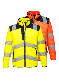 Personalised Portwest PW371 Hi Vis Baffle Jacket