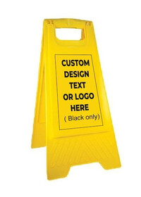 Custom printed Yellow A frame personalised sign