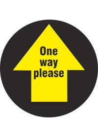Black Floor Arrow Sticker Circle