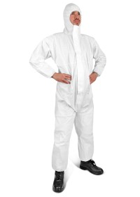 Type 5/6 Dispoable coverall White