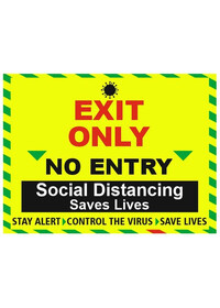 Social Distancing Entrance Only Sign