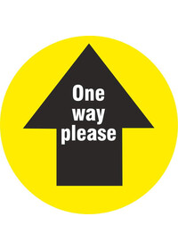 Yellow Floor Arrow Stickers Circle