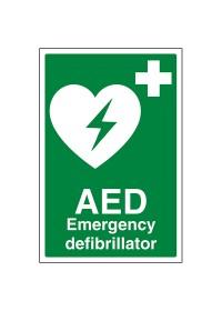 AED Defibrilator Sign