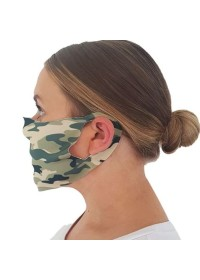 Face mask covering with camoflage pattern