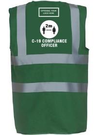 Compliance Officer Green Hi Vis Vest C-19
