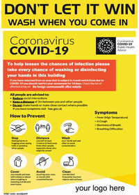 COVID19 Corona Virus Poster sticker