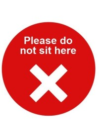Please do not sit here sticker
