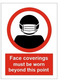 Face Coverings must be worn sign
