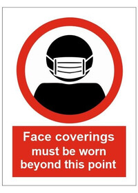 Face Coverings must be worn Floor Sticker