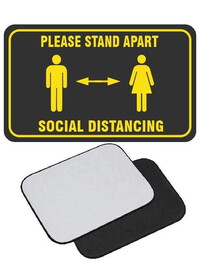 Social Distancing floor mat movable