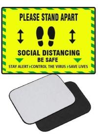 Yellow Floor Mat Social Distancing