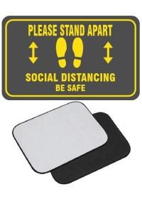 Grey Social Distancing movable floor mat