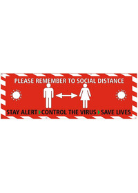 Social Distance Banner Keep 2 Metres