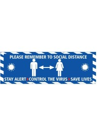 Blue Social Distance Banner Keep 2 Metres