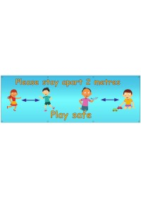 School Children Social Distance Banner
