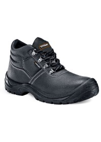 Safety toe cap boot with steel midsole