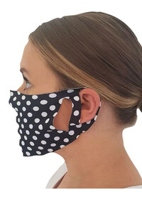 Face mask covering with Polka dot pattern