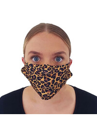 Face mask covering with leopardskin pattern