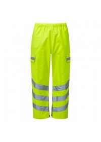 Pulsar Yellow Hi Vis Waterproof Overtrousers P206