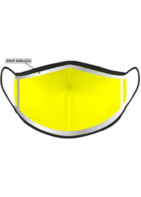 Yellow Custom Printed Hi Visibility Around Edge Face Mask With Nose Wire