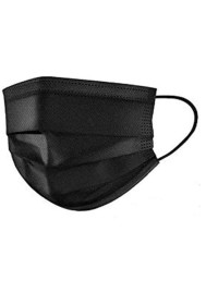 Black Disposable Face Mask 3 Layer