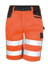 Orange Hi Vis Safety Cargo Shorts Result