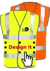 Personalised Premium Quality Hi Vis Vest Leo W01