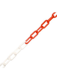 Plastic 6mm Safety Chain Red/White 25M