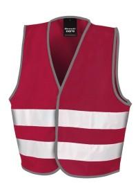Kids Burgundy Hi Vis Safety Vest R200J