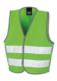 Kids Lime Green Hi Vis Safety Vest R200J