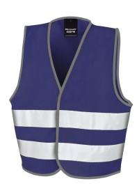 Kids Navy Blue Hi Vis Safety Vest R200J