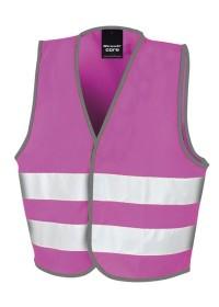 Kids Pink Hi Vis Safety Vest R200J
