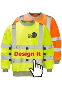 Custom Printed Hi Vis Sweatshirt