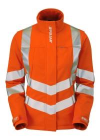Ladies Orange Hi Vis Softshell Jacket Pulsarail PR707