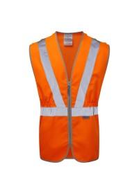 Orange Pull Apart Hi Vis Vest With Zip Pulsarail PR145