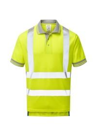 Pulsar P175 Yellow Short Sleeve Hi Vis Poloshirt