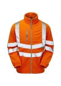Pulsarail PR508 Orange Hi Visibility Fleece Jacket