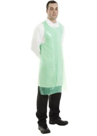 Disposable Polythene apron roll of 200 30 mu thick