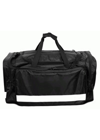 Holdall with reflective stripe large black