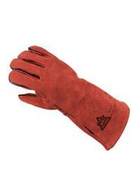 Glove Gauntlet welding red PAIR 304354