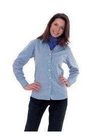 Uneek UC703 Ladies Pinpoint Oxford Full Sleeve Shirt  includes your logo