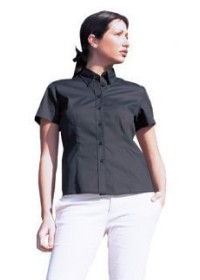 Uneek UC704 Ladies Pinpoint Oxford Half Sleeve Shirt