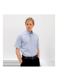 Henbury HB555,Short sleeve Oxford shirt