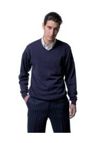 Russell  J710M,V-neck true knit sweater