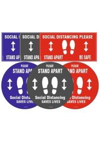 Social Distancing Floor Sticker 300mm