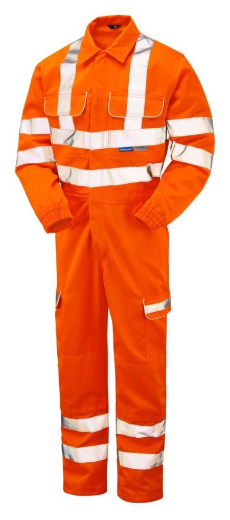 Pulsarail Orange Hi Vis Coverall with Combat Pockets PR339