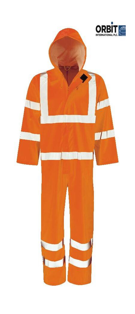 Hi vis Waterproof Coverall Orange
