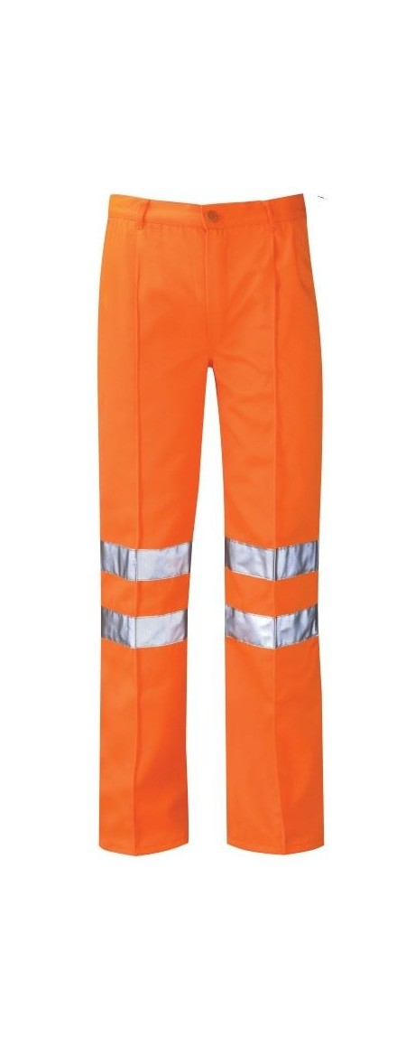 Orange polycotton hi vis trousers