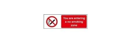 You are entering a no smoking zone sign
